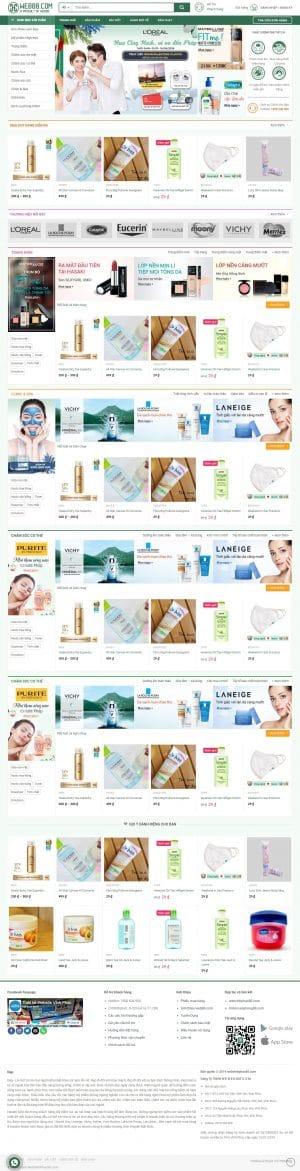 webite bán mỹ phẩm tại vĩnh phúc